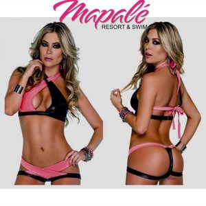🔥MAPALE TWO PIECE 🔥LINGERIE SET BLACK-PINK